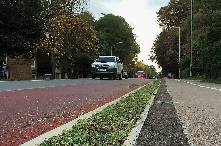 Sedum mat for cambridge cycle route