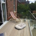 balcony roof deck after epdm waterproofing