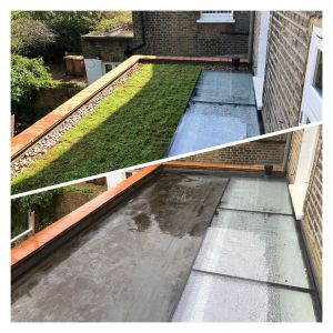 LONDON Before and after using Sedum SMART Boxes